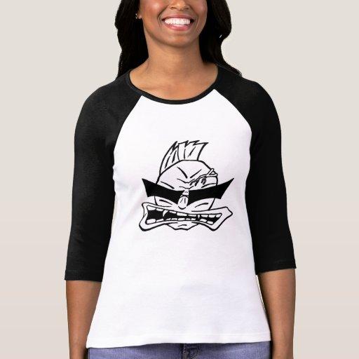 Camiseta sonriente de las señoras playera