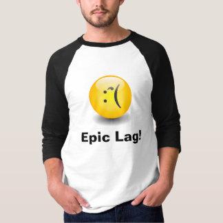 Camiseta sonriente de Txt del retraso épico Playeras