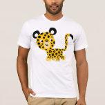 Camiseta sonriente del leopardo del dibujo animado