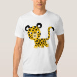 Camiseta sonriente del leopardo del dibujo animado remera