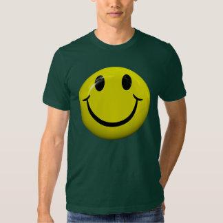 Camiseta sonriente feliz de la cara polera
