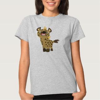 Camiseta sonriente linda de las mujeres del Hyena Remera