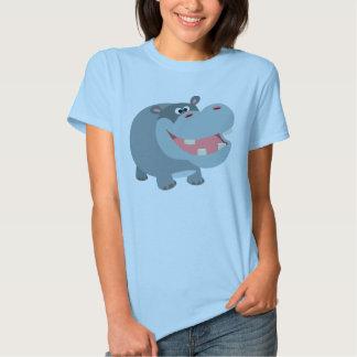 Camiseta sonriente linda de las mujeres del remeras