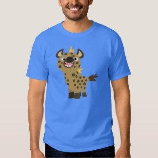 Camiseta sonriente linda del Hyena del dibujo Camisas