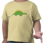 Camiseta sonriente linda del niño del dinosaurio v