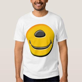 ¡Camiseta sonriente tuerta! Playeras