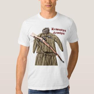 Camiseta soviética del ejército rojo de Mosin Poleras