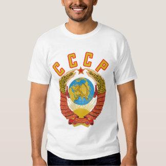 Camiseta soviética del escudo de armas CCCP Camisas