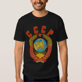 Camiseta soviética del escudo de armas CCCP Remera