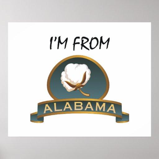 CAMISETA soy de Alabama Póster