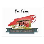 CAMISETA soy de Carolina del Norte Tarjetas Personales