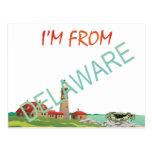 CAMISETA soy de Delaware Tarjeta Postal