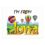 CAMISETA soy de Iowa Tarjeta Postal