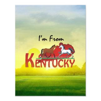 CAMISETA soy de Kentucky Invitación 10,8 X 13,9 Cm
