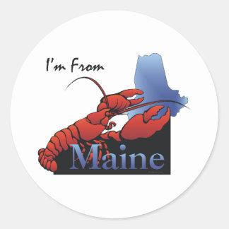 CAMISETA soy de Maine Pegatinas Redondas