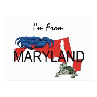 CAMISETA soy de Maryland Tarjetas De Visita Grandes