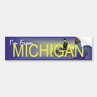 CAMISETA soy de Michigan Etiqueta De Parachoque