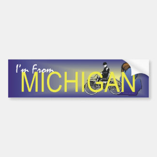CAMISETA soy de Michigan Pegatina Para Auto