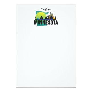 CAMISETA soy de Minnesota Invitación 12,7 X 17,8 Cm