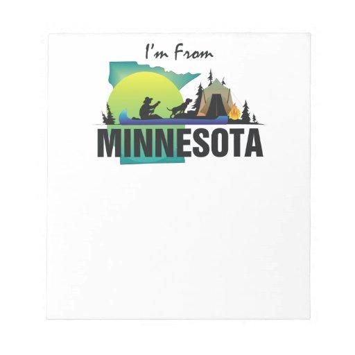 CAMISETA soy de Minnesota Libreta Para Notas