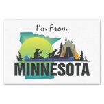 CAMISETA soy de Minnesota Papel De Seda Pequeño