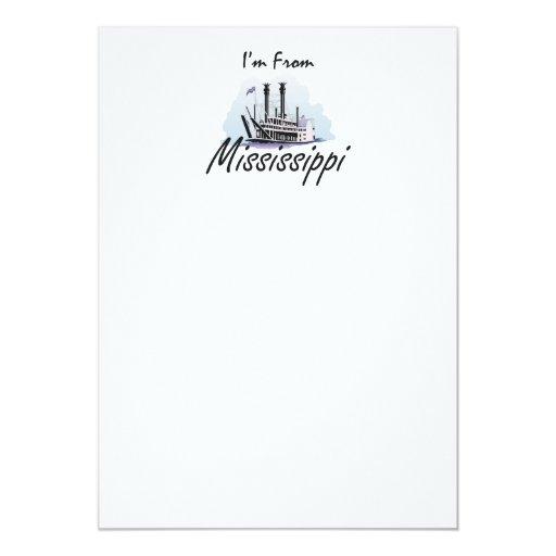 """CAMISETA soy de Mississippi Invitación 5"""" X 7"""""""