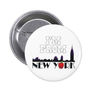 CAMISETA soy de Nueva York Pin Redondo 5 Cm