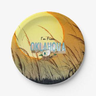 CAMISETA soy de Oklahoma Plato De Papel De 7 Pulgadas