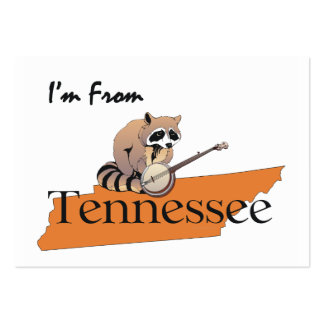 CAMISETA soy de Tennessee Tarjetas De Visita Grandes