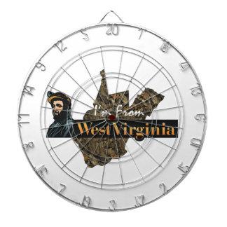 CAMISETA soy de Virginia Occidental Tablero Dardos
