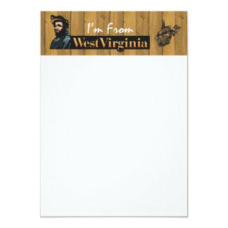 CAMISETA soy de Virginia Occidental Invitación 12,7 X 17,8 Cm