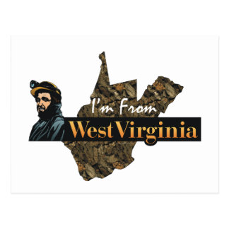 CAMISETA soy de Virginia Occidental Tarjeta Postal
