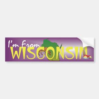 CAMISETA soy de Wisconsin Etiqueta De Parachoque