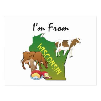 CAMISETA soy de Wisconsin Postales