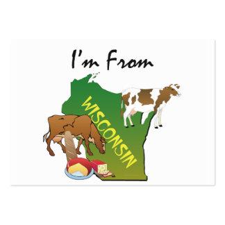 CAMISETA soy de Wisconsin Plantillas De Tarjetas Personales