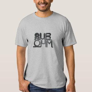 Camiseta sub del metal del ohmio playera
