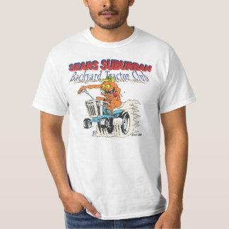 Camiseta suburbana del club del tractor del patio playera