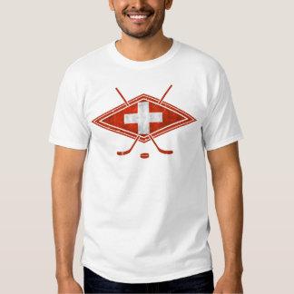 Camiseta suiza de la bandera del hockey sobre remera