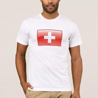 Camiseta suiza del logotipo