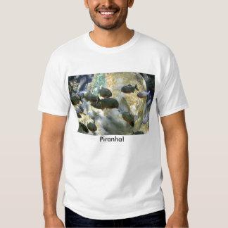Camiseta suramericana de los pescados de la piraña poleras