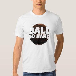 Camiseta tan dura del baloncesto de la bola playera