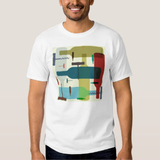 Camiseta temática de la botella de vino playera
