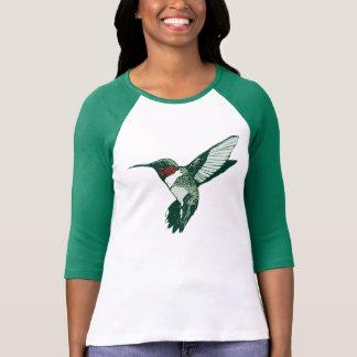 Camiseta Throated de rubíes del colibrí del dibujo Remera