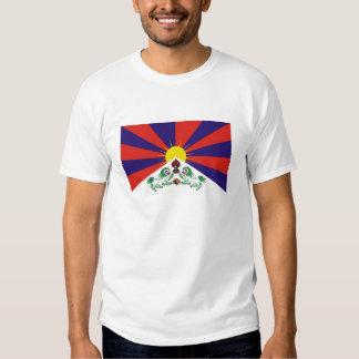 Camiseta tibetana de la bandera poleras