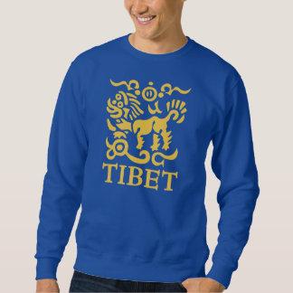 Camiseta tibetana del león de la nieve de los