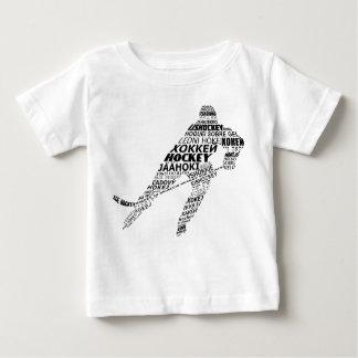 Camiseta tipográfica de las idiomas del hockey