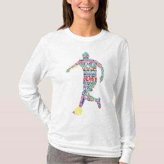 Camiseta tipográfica del jugador de fútbol
