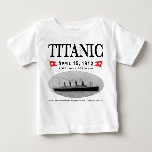 Camiseta titánica del niño de la nave del fantasma