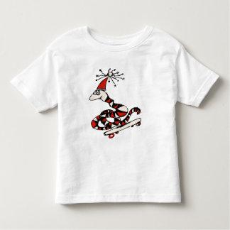 Camiseta tonta de la serpiente del monopatín camisas