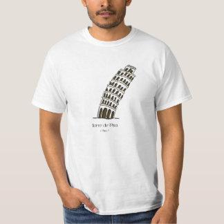 Camiseta Torre de Pisa Poleras